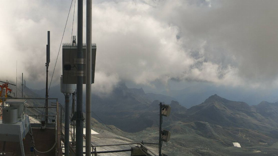 Valle d'Aosta - Cervinia Webcam da Plateau Rosa
